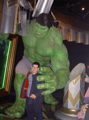 Gary looking a little too happy about being grabbed by the incredible hulk