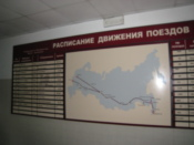 Map in the ticket office