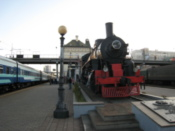 An old steam locomotive from the Trans-Siberian