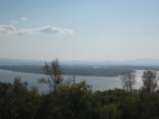 Looking down to the Amur river