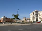 Looking over one of the main roads through Malaga