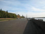 Promenade by the Yenisey river