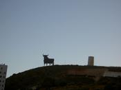 The bull on the hill at Torreblanca