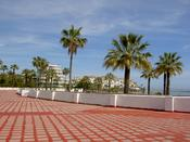 The nicely paved sea front