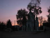 Sunset view of St Simon Orthodox Cathedral