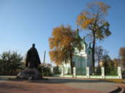 Statue by St Simon Orthodox Cathedral