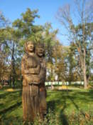 Wooden carving in the Park of Culture and Leisure