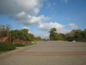 The vast, open space in the memorial