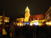 New year&#39;s partying in the main square