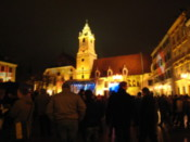 New year's partying in the main square