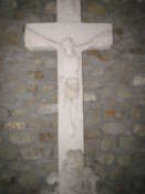 Cross from ruined chapel at Devin Castle