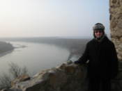 Me at Devin Castle