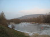 Iec-skating on a frozen bit of the Morava river