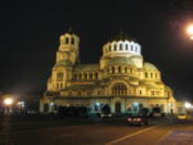 Alexander Nevski Cathedral by night