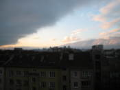 The Vitosha mountain early in the morning