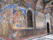 Frescoes on the chapel