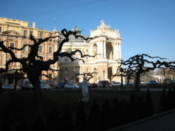 Opera and Ballet Theatre from the square opposite it