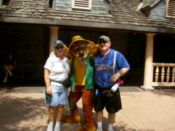 Karen and Ashley with Goofy
