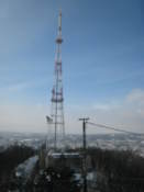TV mast seen from the High Castle