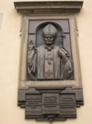 Plaque on the wall of the Roman Catholic Cathedral