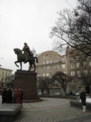 Statue of L&#39;viv&#39;s founder, Prince Halytsky