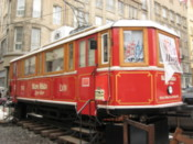 Tram carriage serving beer